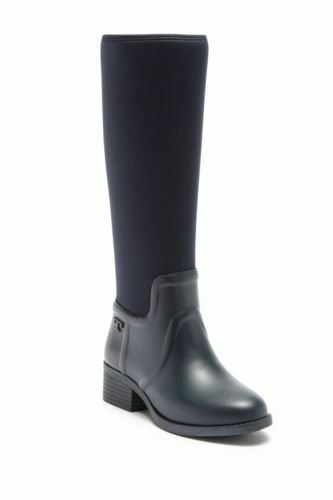 Tory Burch April Tall Rainboot Navy Size 9 New In Box