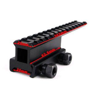 20mm-picatinny-Weaver-Rai-QD-Mount-Base-Flattop-Riser-Extended-long-Pour