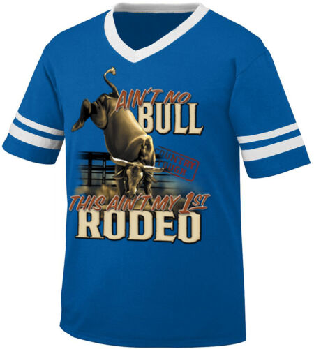 This Aint My First Rodeo Bull Horn Country Southern Retro Ringer T-shirt