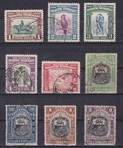 NORTH-BORNEO-1939-Sc-193-207-CV-211-Part-set-Used