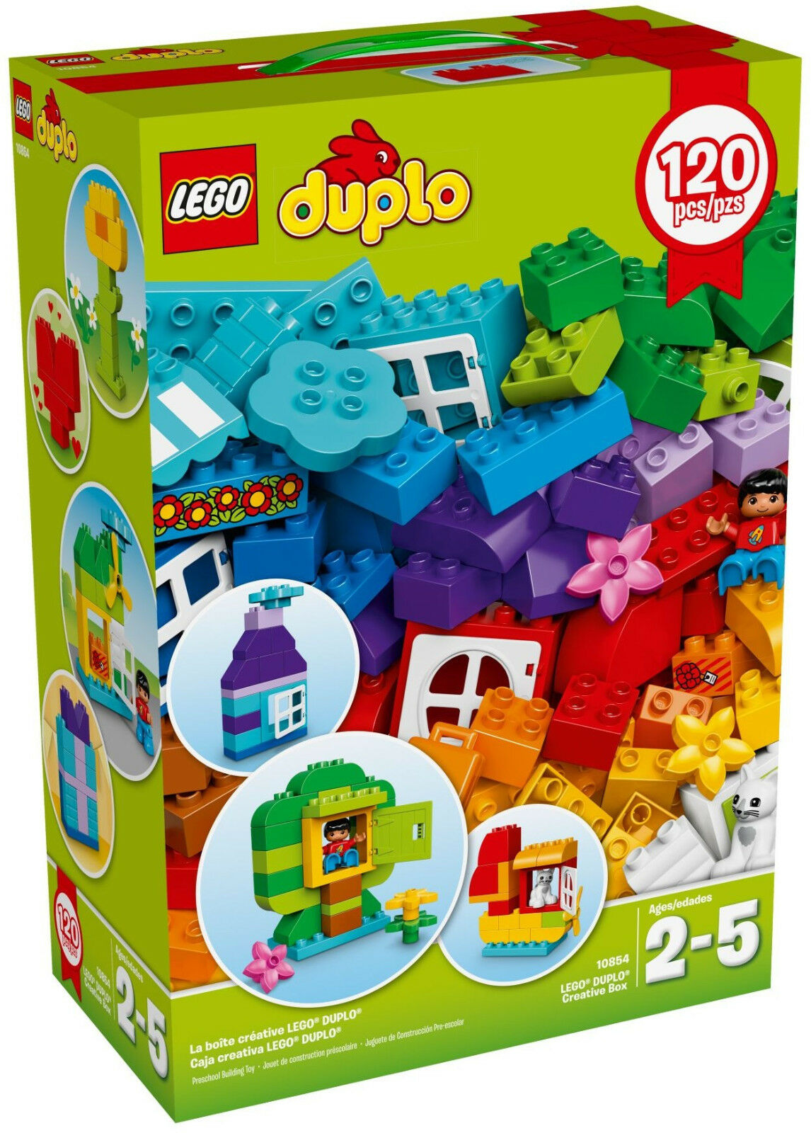 Duplo - Creative Box 120 Piece Set  10854 NEW FREE SHIP Lego Preschool NIB