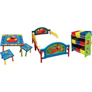 sesame street elmo room in a box 5 piece bedroom set kids and toddlers