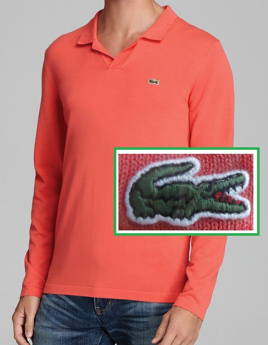 NWT Lacoste Johnny Collar Cotton Sweater