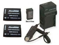 2 Dmw-bcg10 Dmw-bcg10e Battery Batteries + Charger F/ Panasonic Dmc-3d1 Dmc3d1
