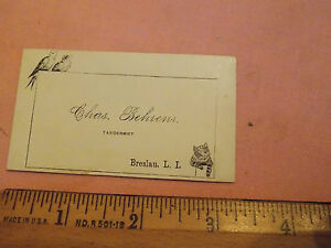 Rare 1880 behrens taxidermy business card cat breslau lindenhurst image is loading rare 1880 behrens taxidermy business card cat breslau colourmoves