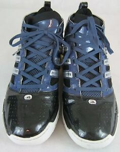 huge selection of 48777 475ef Image is loading PRE-OWNED-MEN-039-S-ADIDAS-BOUNCE-BLACK-
