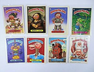 Garbage-Pail-Kids-GPK-Cards-Mixed-Lot-Of-8-Topps-1986-Puzzle-Backs-Multi-Series