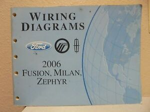 oem 2006 ford fusion mercury milan wiring licoln zephyr. Black Bedroom Furniture Sets. Home Design Ideas
