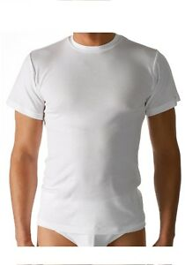 3-x-Mey-Noblesse-Unterhemd-Olympia-Shirt-2803-Gr-6-L-Farbe-weiss