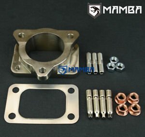 Details about CNC Exhaust 3 bolt to T3 Turbo Flange Adapter Kit TOYOTA  LandCruiser 1HZ 100/105