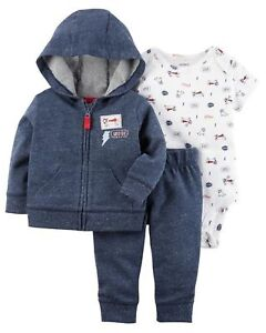 4e75a74e4 New Carter's 3 Piece Set Hoodie Puppy Dog Top & Pants NWT 12m 18m ...