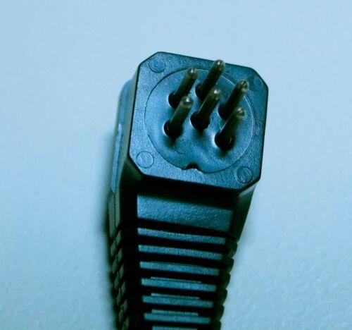 6-poliger DIN Stecker MAS 60 abgewinkelt mit ca schwarz 60 cm Kabel