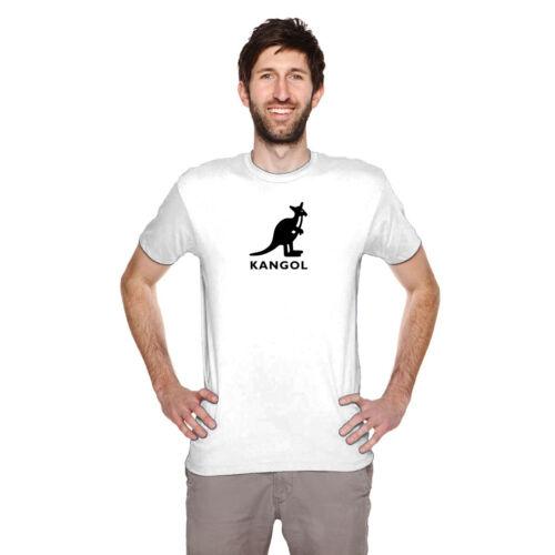 KANGOL LOGO FASHION men black t-shirt 100/% cotton short sleeve personalized tee