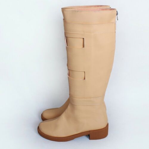 Padme Queen Amidala Boots Tan Beige Cosplay Costume Shoes 5-12 Wars Star