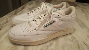 Details zu VINTAGE MENS REEBOK WHITE LEATHER SNEAKERS CLASSIC CLUB C 85 LOW CUT SIZE 12