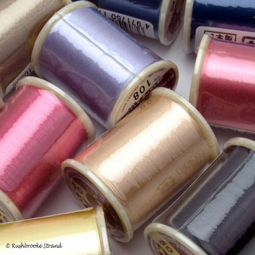 100 meter spools Chose your color YLI Kanagawa 50 wt 100/% Silk Thread