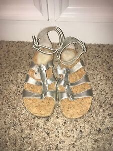 feb79122adc UGG Australia Sechura Silver Gladiator Sandals in Size 9-EUC Worn ...