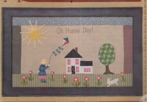 Oh-Happy-Day-pieced-amp-applique-wall-quilt-PATTERN-Timeless-Traditions