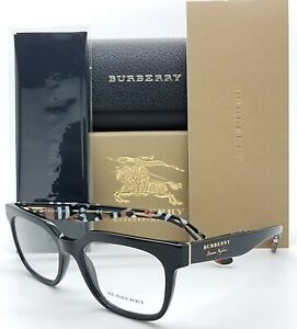 NEW-Burberry-RX-frame-BE2277-3735-51mm-Black-2277-Classic-Vintage-London-England