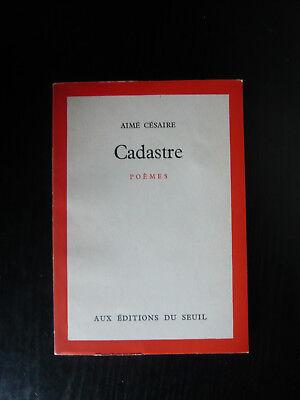 Aimé Césaire Cadastre Poèmes Eo 1961 Service De Presse
