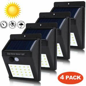 4x-30LED-Solar-Power-Light-PIR-Motion-Sensor-Security-Outdoor-Garden-Wall-Lamp-Z