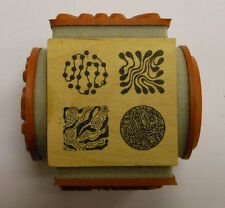 Art Nouveau Patterns - 4 sided Cube Rubber Stamp by JudiKins
