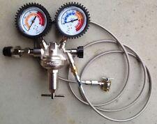 DIN 477 France Germany Shock Nitrogen regulator stainless line w/ chuck 650 psi