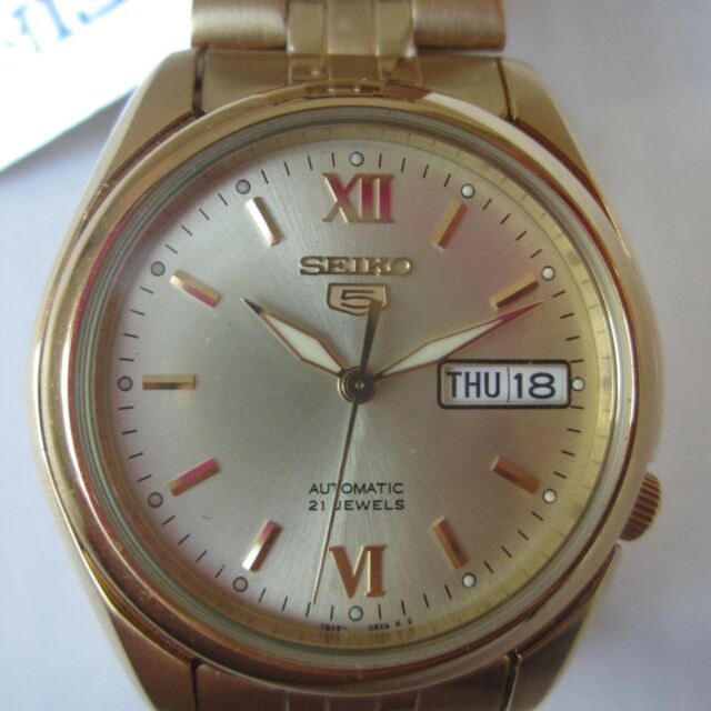 6cb5022f0eb SEIKO 5 ORIGINAL JAPAN MEN S WATCH AUTOMATIC ALL STAINLESS S GOLD SNKA54K1  NEW
