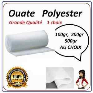 Ouate-polyester-blanche-poids-au-choix-100-200-500g-m2-l150cm-PROMOTION