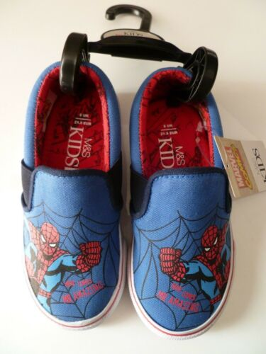 Marvel Spiderman Boys Toddler Size 5 Pumps from M/&S RRP £14 New with Tag