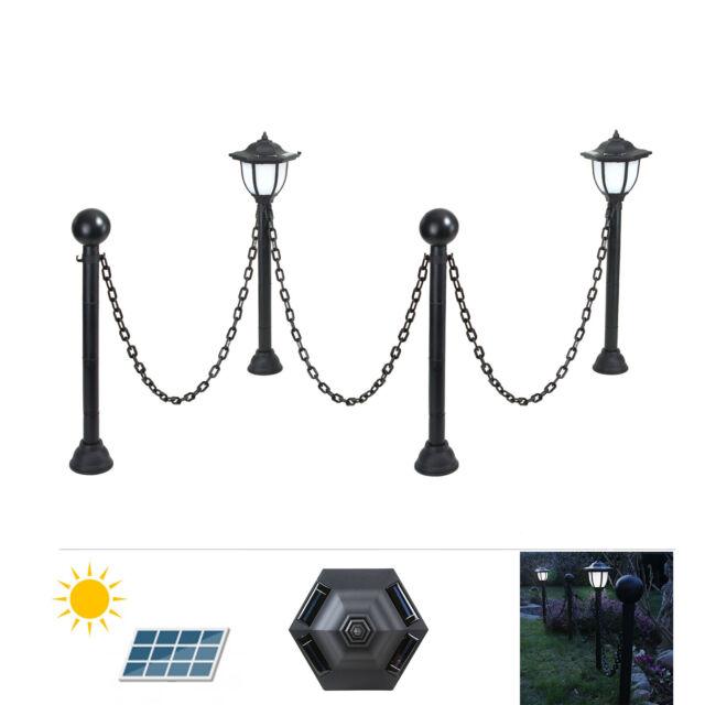 Fassadenbeleuchtung 2er Set Solarleuchten mit Dämmerungssensor Wegeleuchten