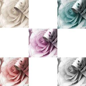 Muriva Madison Glitter Wallpaper Sparkle Flower Floral Rose Petals Blown Vinyl