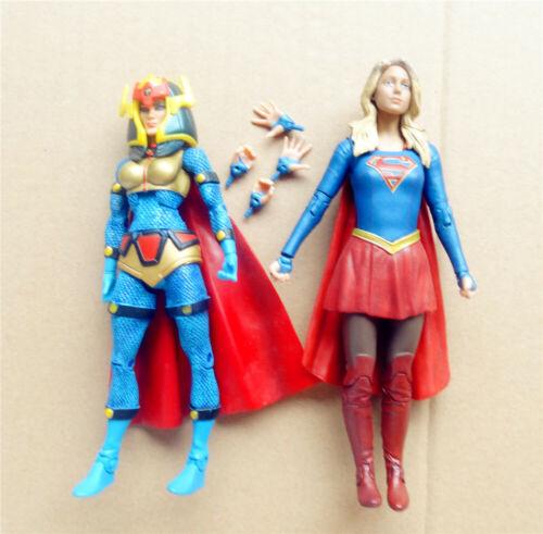 "lot 2 DC Universe Big Barda DC Collectibles SUPERGIRL tv action Figure 6/"" 6.75/"""