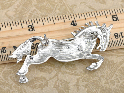 Vintage Horse Green Yellow Enamel Crystal Gifttom Pin Brooch Chic Jewelry Gifts