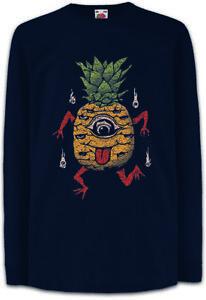 Pineapple-Yokai-Kinder-Langarm-T-Shirt-Kitsune-Mononoke-Obake-Oni-Yuki-Onna-Fun