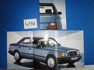 Eerlijk N°4796 / Mercedes : Catalogue 200,230 E ,260 E ,300 E Texte Français 1986