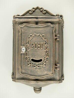 Begeistert Briefkasten Gusseisen Postkasten Wandbriefkasten Guß Braun Vintage H.51x30cm