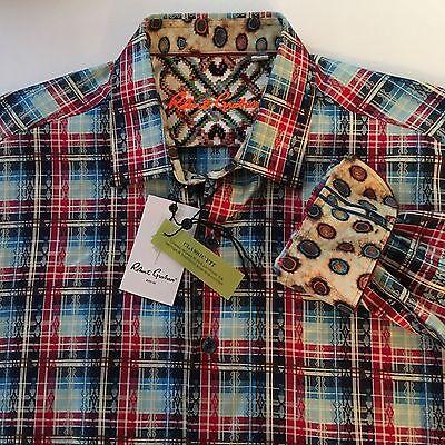 $178 NWT Robert Graham Palm Bay Blue S//S Shirt Size-XL