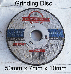 Grinding Disc 50mm x 7mm x  .. 10mm (3/8inch) Center pack of 25