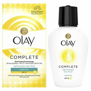 Olay-3-In-1-Lightweight-Day-Fluid-Sensitive-SPF15-Essentials-Complete-Care-100ml
