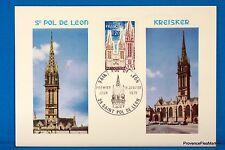 SAINT PAUL DE LEON  Carte Postale Maximum FDC Yt C 1808