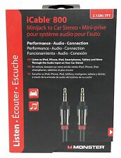 Monster iCable 800 Mini Jack to Car Stereo iPod Apple Android 7 FT Unopened