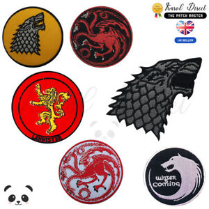 Game-of-Thrones-Embroidered-Iron-On-Sew-On-Patch-Badge-For-Clothes-etc