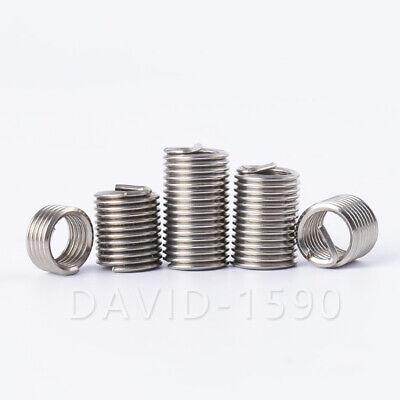 10pk 3//8-16 1D Length Helicoil Insert Wire Thread Insert 304 Stainless Steel