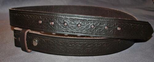 Cintura celtica 38mm Marrone Vera Pelle da Uomo Donna Stampa Goodyear Made in England K7