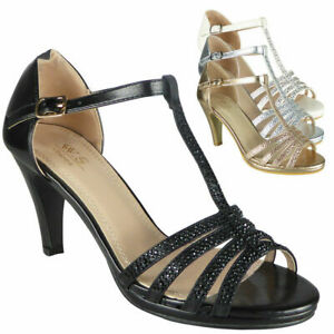 Ladies-Strappy-Sandals-Heels-Womens-Wedding-Bridesmaid-Bridal-Party-Shoes-Size