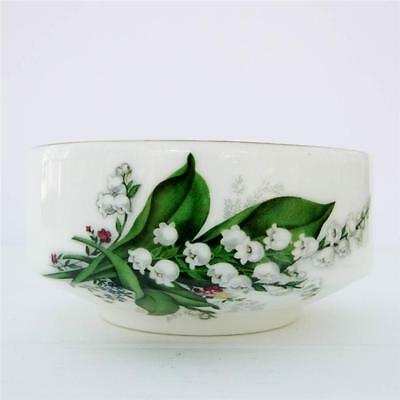 Vintage Argyle Bone China Sugar Bowl Lily of the Valley