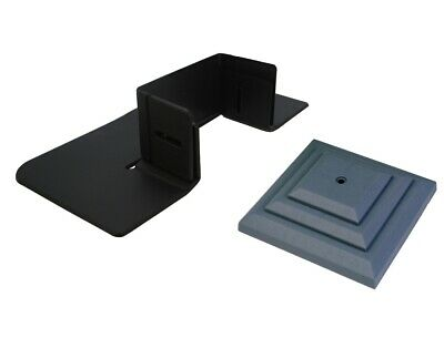 "5x Post-tector Saver Protettore Guardie & 5x 3"" Grigio Pilastrino Finial Caps X8147-"