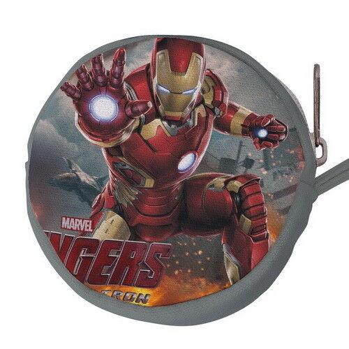 Iron Man Canvas Mini Circular Wallet Coin Purse p77 w0074