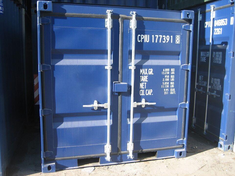 6 eller 8  fods  skibscontainer  ny